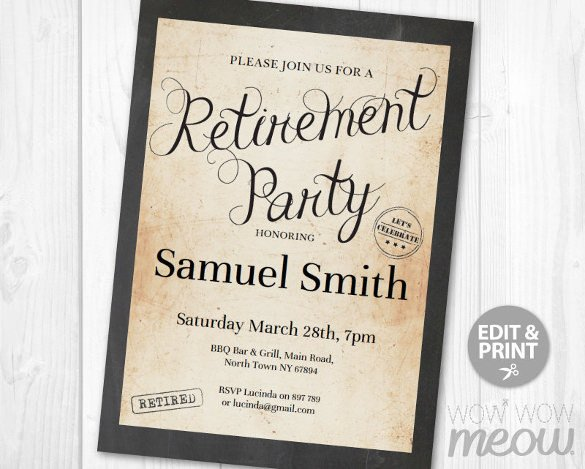 Retirement Party Flyer Templates 12 Retirement Party Flyer Templates to Download Ai Psd Docs