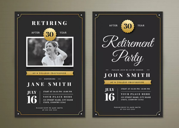 Retirement Party Flyer Templates 15 Retirement Party Invitation & Flyer Templates Xdesigns