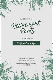 Retirement Party Flyer Templates Party Flyer Templates