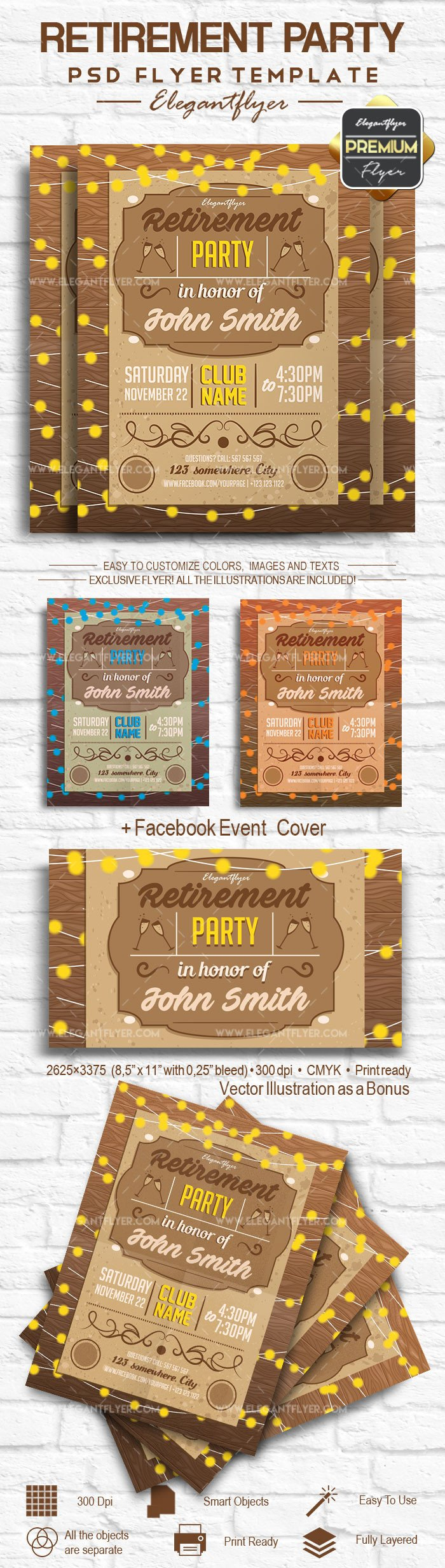 Retirement Party Flyer Templates Retirement Party – Flyer Psd Template – by Elegantflyer