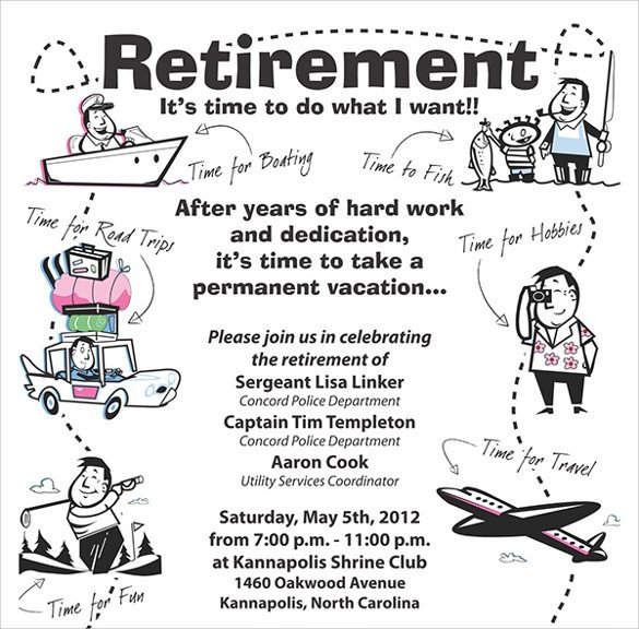 Retirement Party Flyer Templates Retirement Party Flyer Template 9 Download Documents In