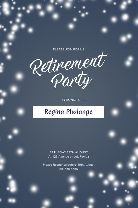 Retirement Party Flyer Templates Retirement Party Flyer Template