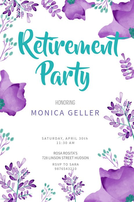 Retirement Party Flyer Templates Retirement Poster Templates