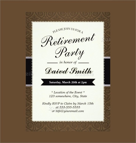 Retirement Party Invitation Templates 17 Retirement Party Invitations Psd Ai Word Pages