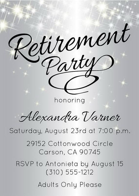 Retirement Party Invitation Templates Best 25 Retirement Invitations Ideas On Pinterest