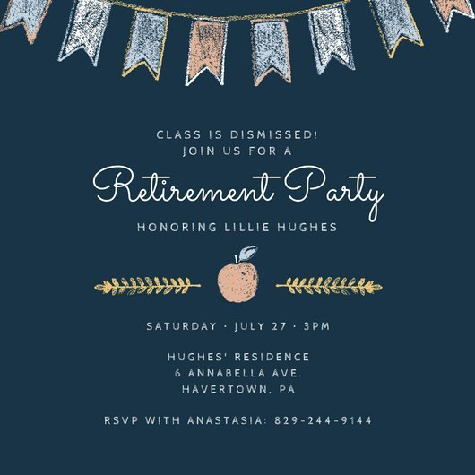 Retirement Party Invitation Templates Customize 2 876 Retirement Party Invitation Templates
