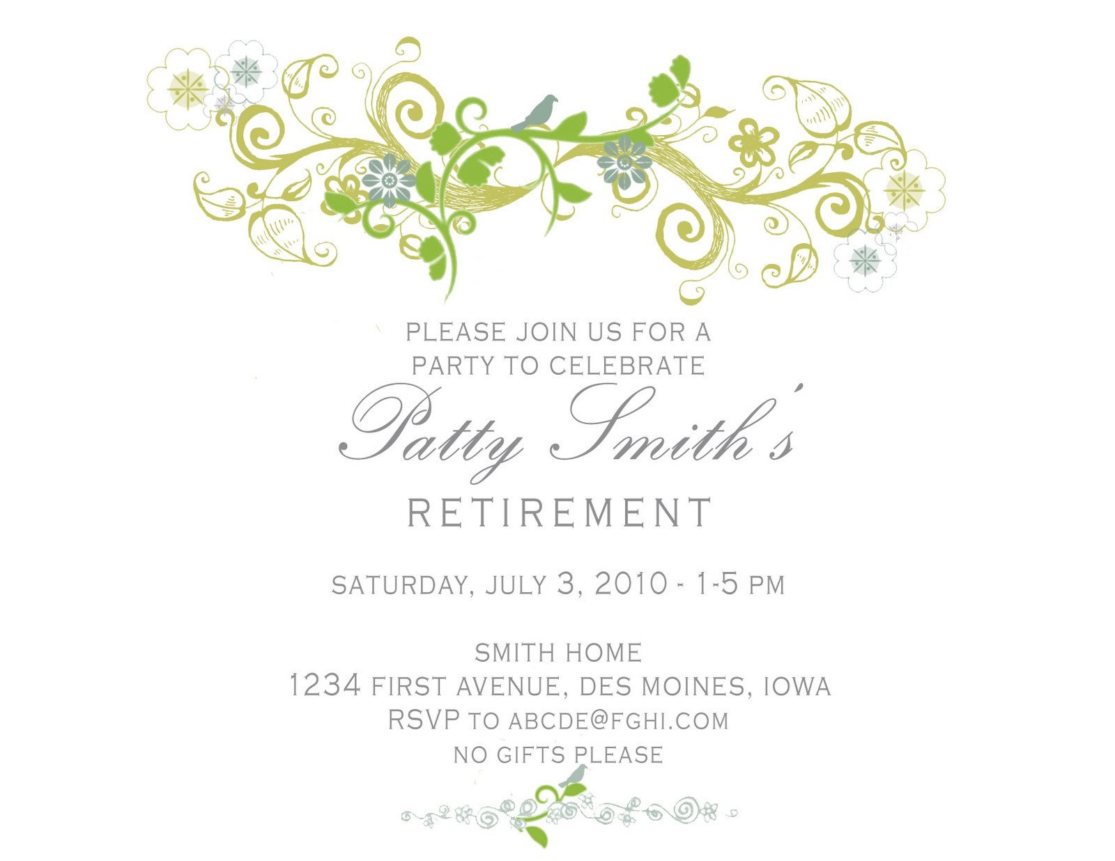 Retirement Party Invitation Templates Idesign A Retirement Party Invitation
