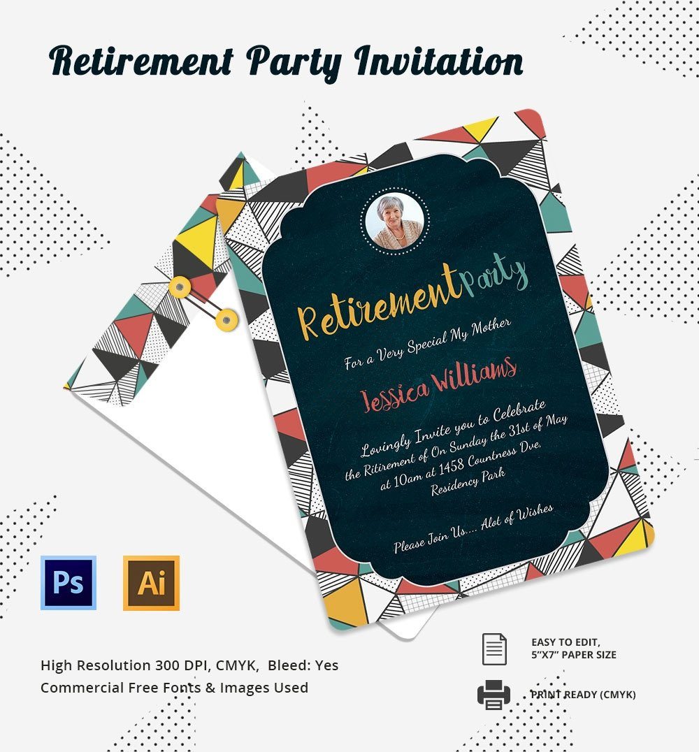 Retirement Party Invitation Templates Party Invitation Template – 31 Free Psd Vector Eps Ai