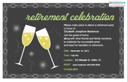 Retirement Party Invitation Templates Retirement Party Invitations
