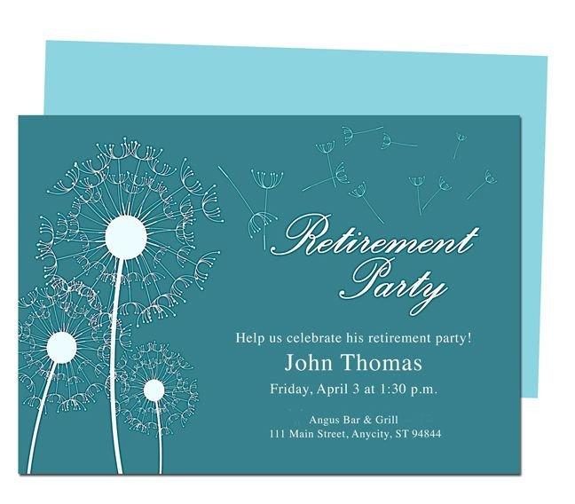 Retirement Party Invitation Templates Winds Retirement Party Invitation Templates Diy Printable