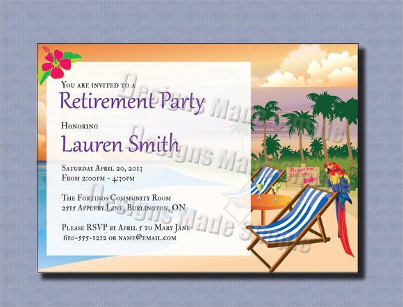 Retirement Party Invitations Template 17 Retirement Party Invitations Psd Ai Word Pages