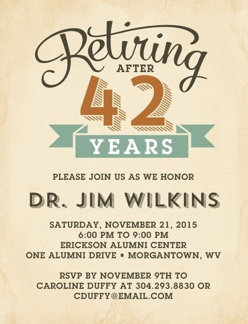 Retirement Party Invitations Template Refined Retirement Party Invitation Postcards In Rust or