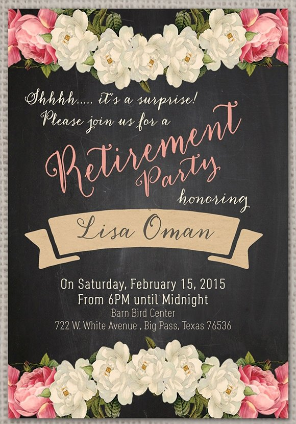 Retirement Party Invitations Template Retirement Party Invitation 7 Premium Download
