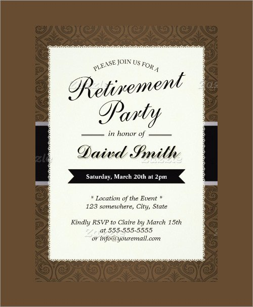 Retirement Party Invitations Template Sample Invitation Template Download Premium and Free