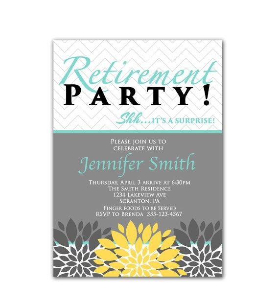 Retirement Party Invitations Template Surprise Retirement Party Invitation Blue Yellow by