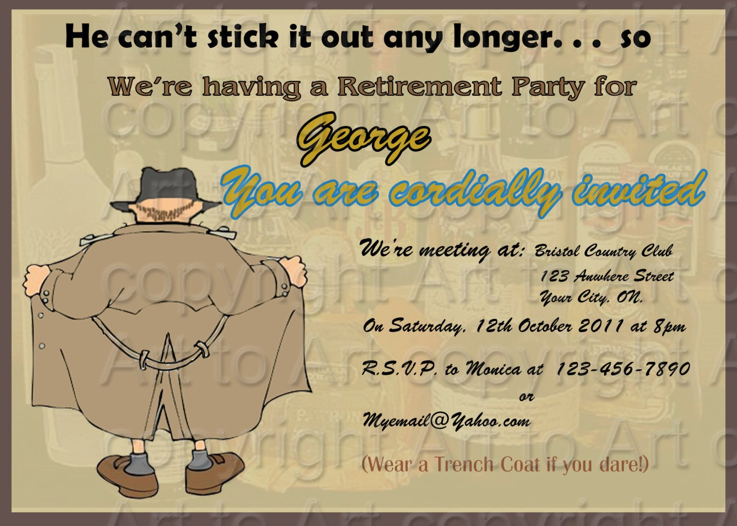 Retirement Party Invitations Templates Retirement Party Invitation 180 Personalized Digital You