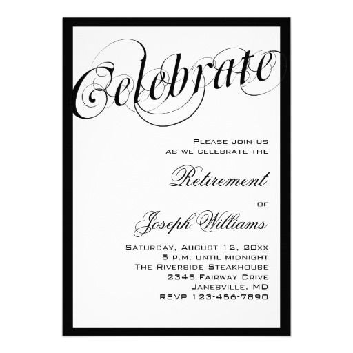 Retirement Party Invite Template 15 Best Retirement Party Invitation Templates Images On
