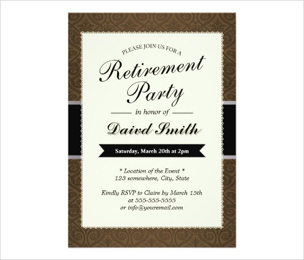 Retirement Party Invite Template 36 Retirement Party Invitation Templates Psd Ai Word