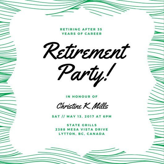 Retirement Party Invite Template Customize 3 999 Retirement Party Invitation Templates