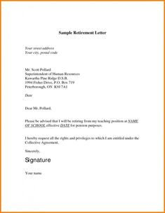 Retirement Resignation Letters Samples Retirement Letter Template – 10 Free Word Pdf Documents