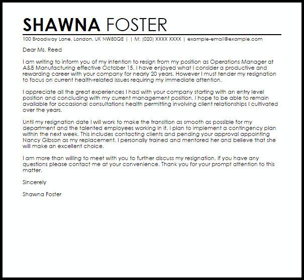 Retiring Letter Of Resignation Retirement Letter Of Resignation