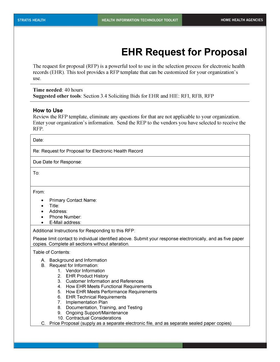 Rfp Response Template Information Technology 40 Best Request for Proposal Templates & Examples Rpf
