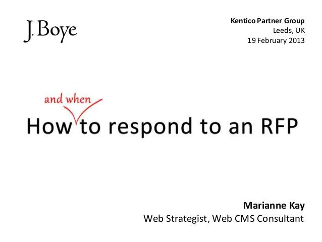 Rfp Response Template Information Technology How to Respond to An Rfp