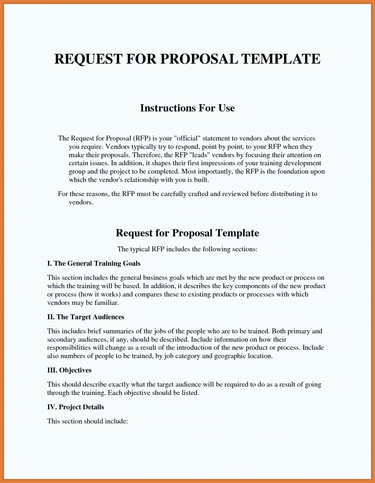Rfp Response Template Information Technology Template for Proposal