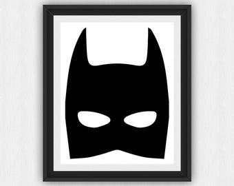 Riddler Mask Template Batman Mask Print