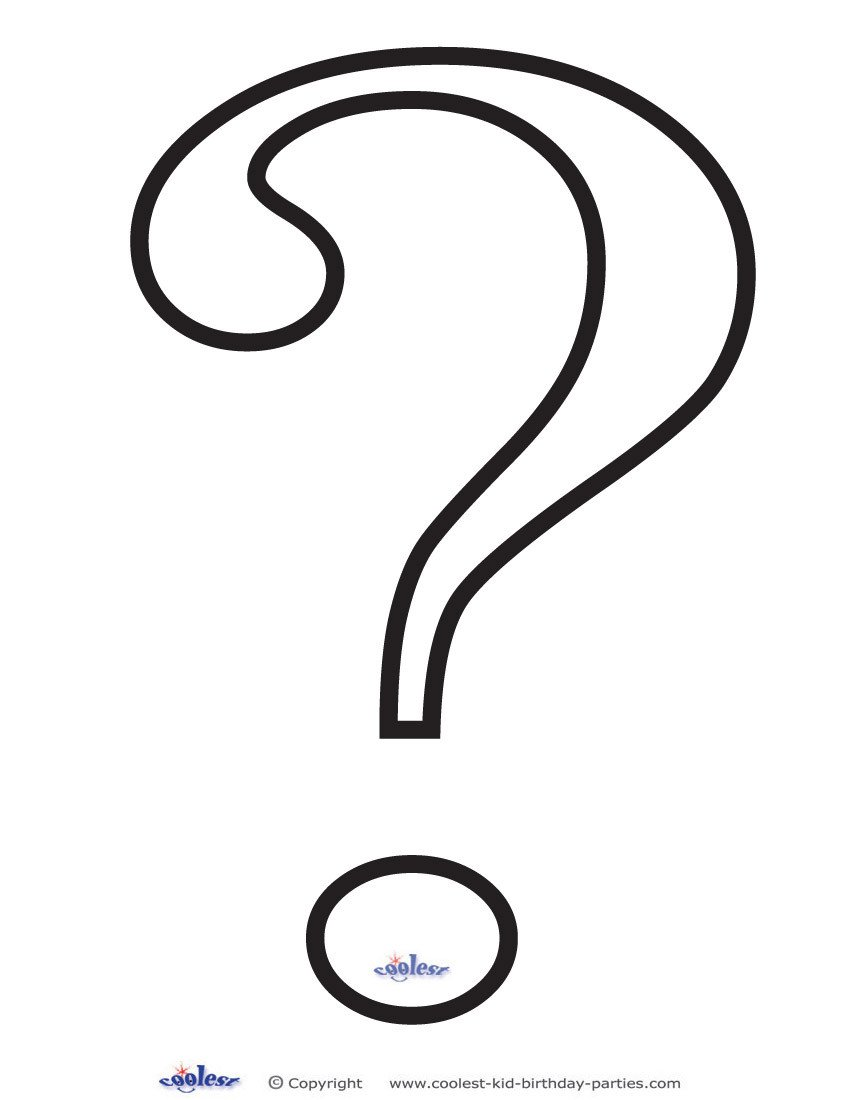 Riddler Mask Template Question Mark Outline Printable Clipart Best