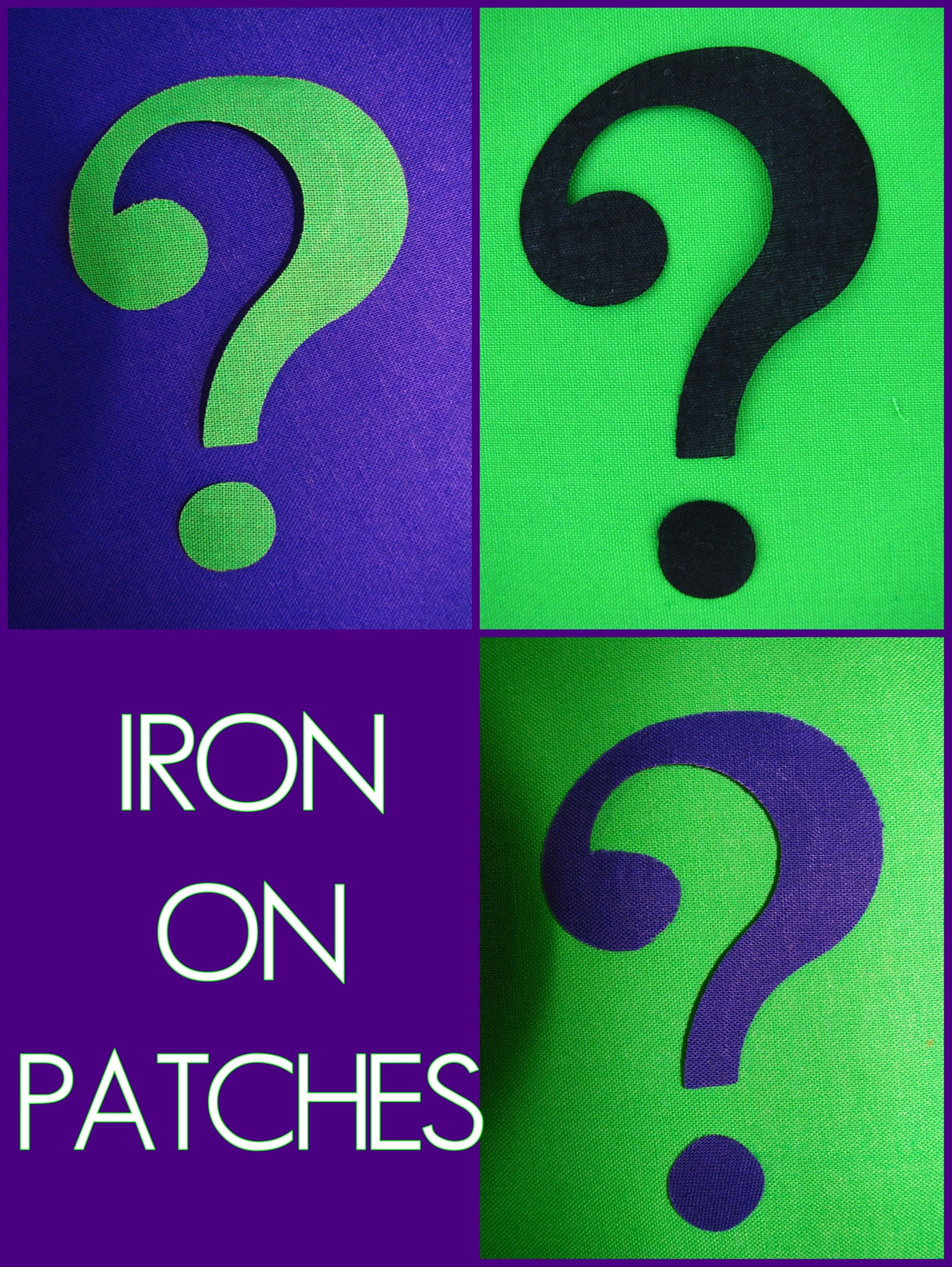 Riddler Mask Template Riddler Question Mark Symbol Patches Patch Iron Ons Purple