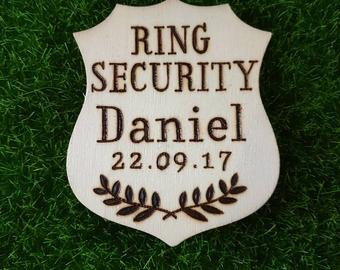 Ring Security Badge Template Flower Girl Ring Bearer Page Boy Activity Booklet Personalized