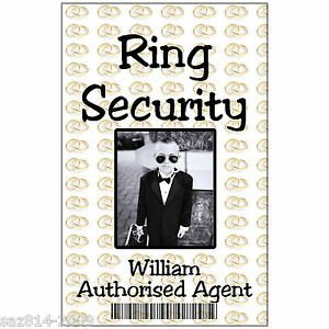 Ring Security Badge Template Id Card for Wedding Ring Security Childs Id Badge