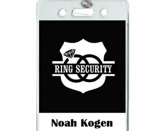 Ring Security Badge Template Ring Security Id Badge Set with Sunglasses Wedding Ring