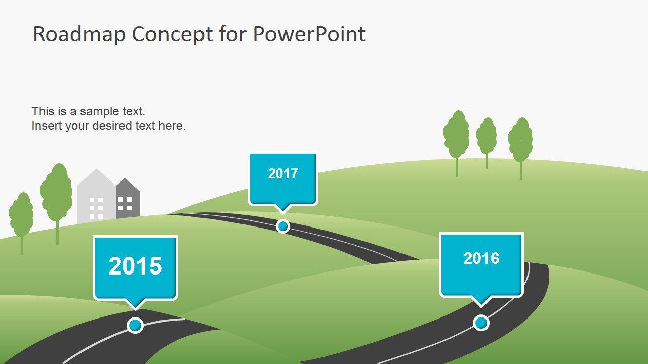 Roadmap Powerpoint Template Free Creative Roadmap Concept Powerpoint Template Slidemodel
