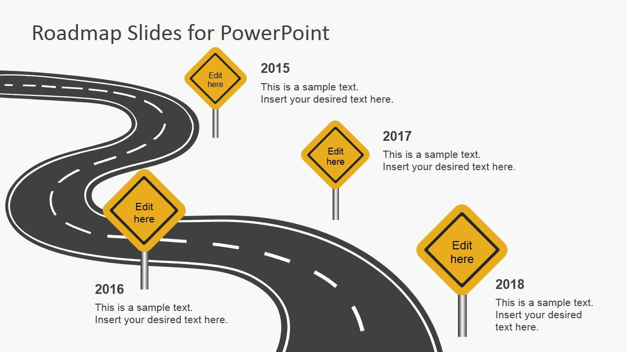Roadmap Powerpoint Template Free Free Roadmap Slides for Powerpoint Slidemodel