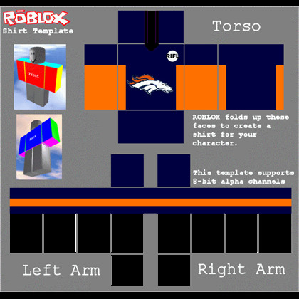 Roblox Football Jersey Template Roblox Broncos Rifl Football Jersey Roblox