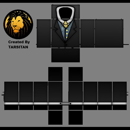 Roblox Vest Template Black Suit W Bluesteel Vest Template Roblox