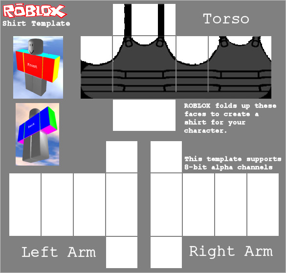 Roblox Vest Template Roblox Vest by Robloxian6789