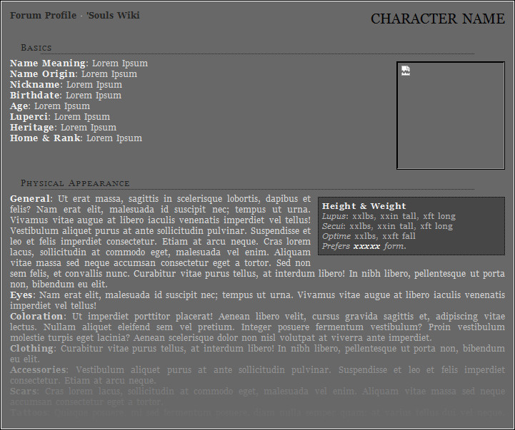 Roleplay Character Sheet Template Free Roleplay Character Sheet Templates