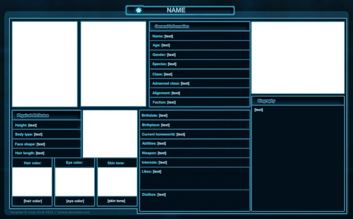 Roleplay Character Sheet Template Swtor Character Sheet Template by isriana On Deviantart