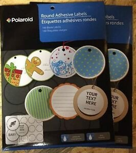 "Round Adhesive Label Template Polaroid 2"" Round Adhesive Labels Ink Jet 2 Inch Polaroid 320"
