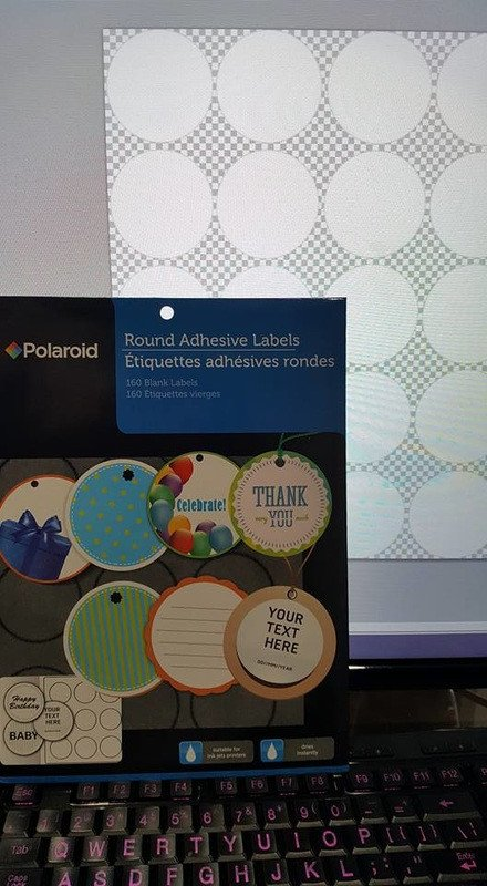 Round Adhesive Label Template Polaroid Polaroid Round Adhesive Labels Template 20 Per Sheet