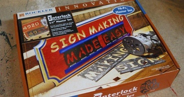 Router Sign Making Template Interlock Sign Making Kit by Rockler Review Woodlogger