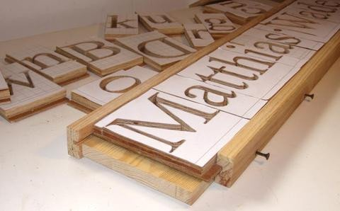 Router Sign Making Template Making 3d Letters with the Pantograph