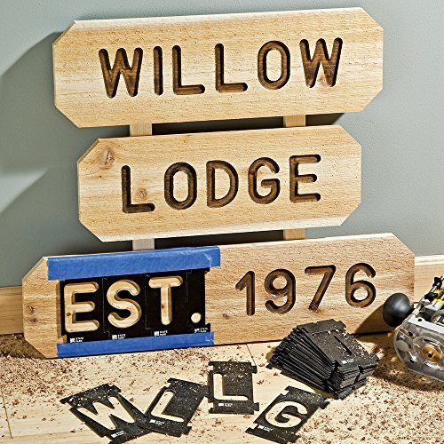 Router Sign Making Template Rockler Interlock Signmaker S Templates State Park Font