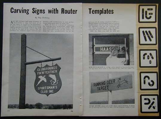 Router Sign Making Template Router Jig & Templates for Sign Lettering How to Build
