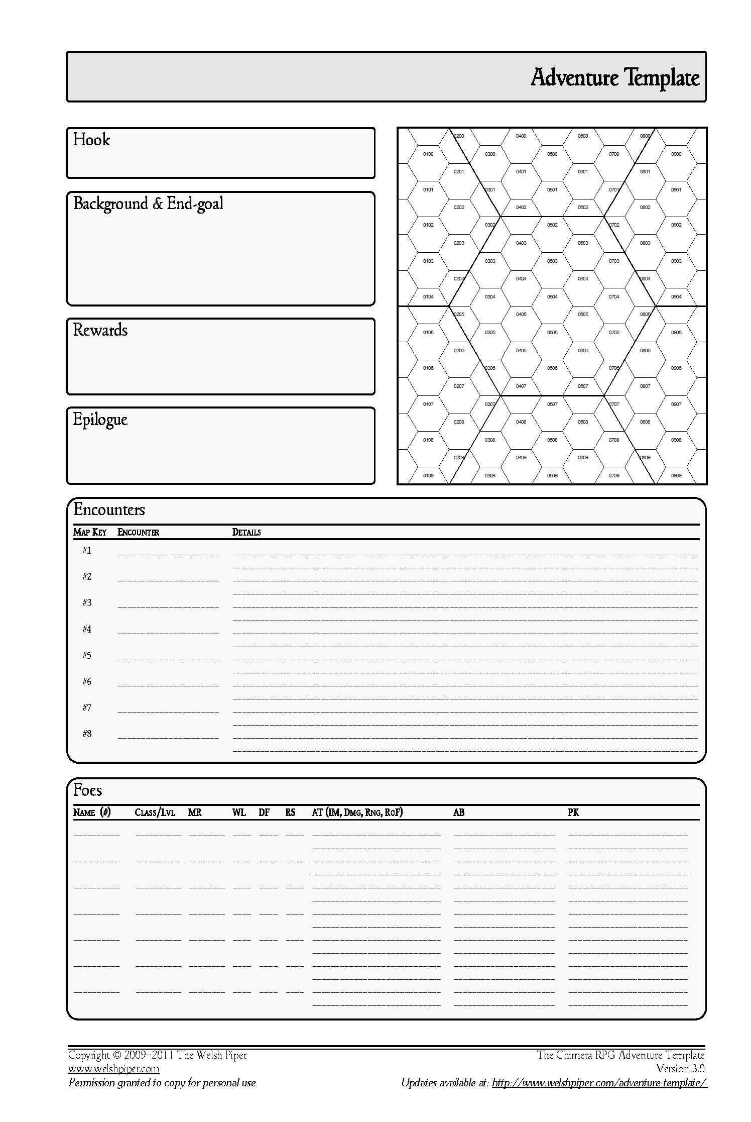 Rpg Character Sheet Template 27 Of Dd Hex Map Template