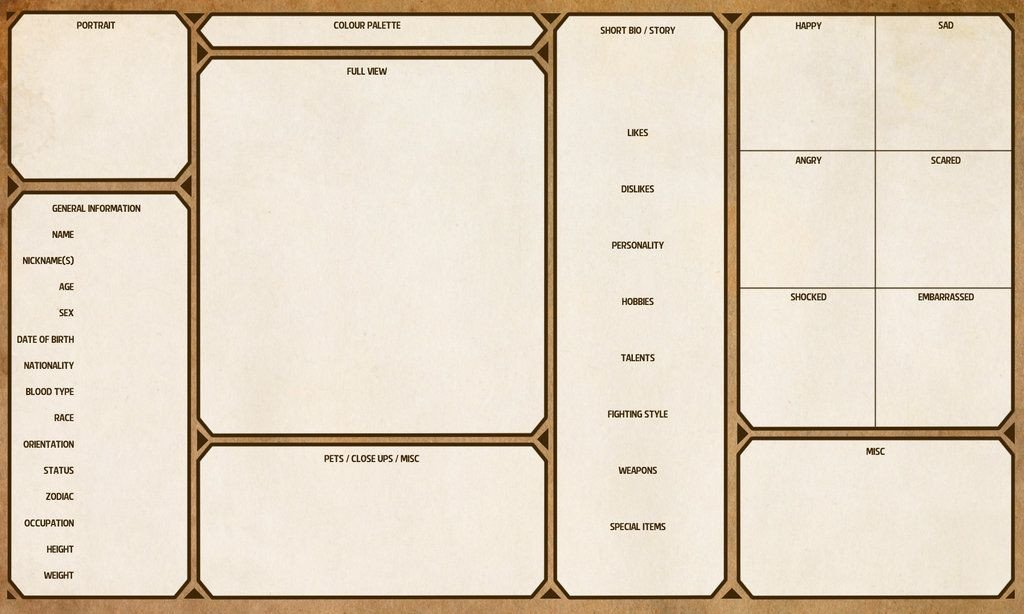 Rpg Character Sheet Template Character Sheet Template by Yenke Resource tool How to
