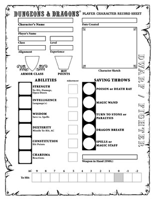 Rpg Character Sheet Template Character Sheets D D